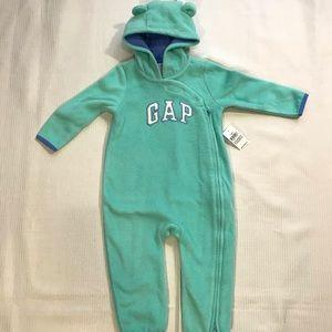 Baby Gap Logo Hoodie Bear One Piece Romper